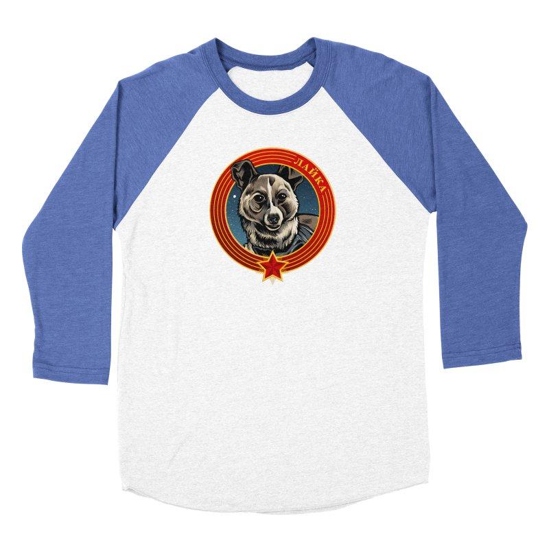 Laika (2019) Women's Baseball Triblend Longsleeve T-Shirt by Octophant's Artist Shop