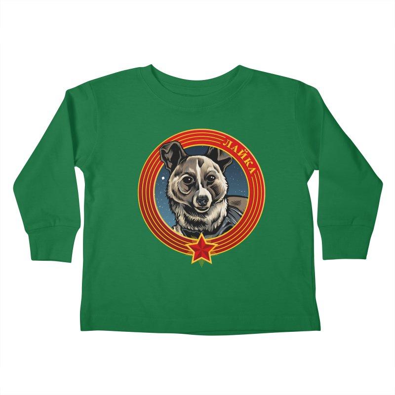 Laika (2019) Kids Toddler Longsleeve T-Shirt by Octophant's Artist Shop