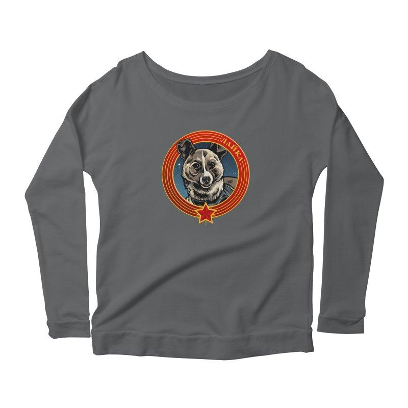 Laika (2019) Women's Scoop Neck Longsleeve T-Shirt by Octophant's Artist Shop