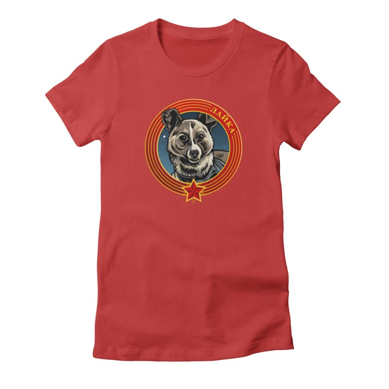 Laika (2019) Women's Fitted T-Shirt by Octophant's Artist Shop
