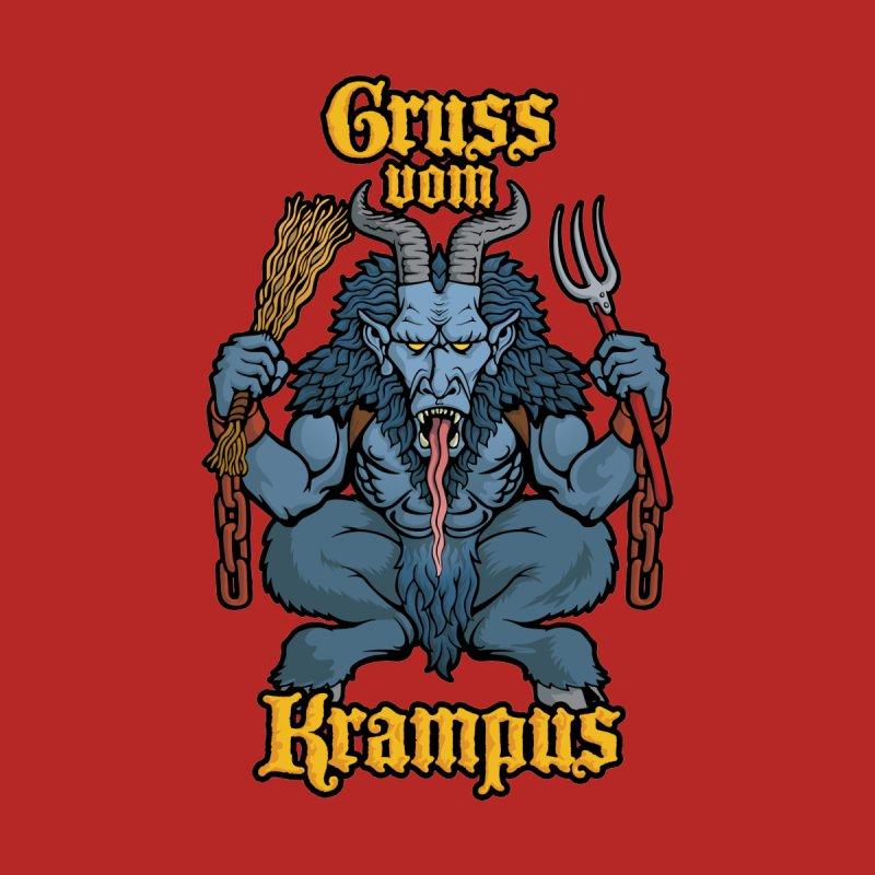 Gruss vom Krampus Women's Muscle Tank by Octophant's Artist Shop
