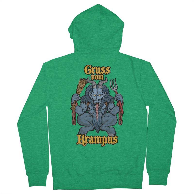Gruss vom Krampus Women's Zip-Up Hoody by Octophant's Artist Shop