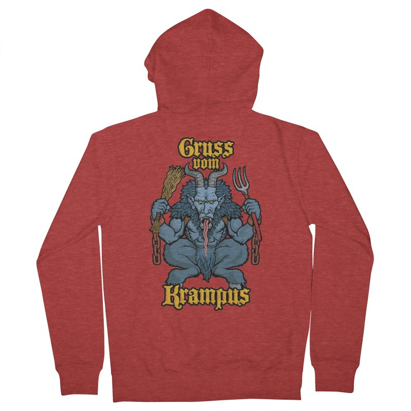Gruss vom Krampus Women's Zip-Up Hoody by Octophant's Artist Shop