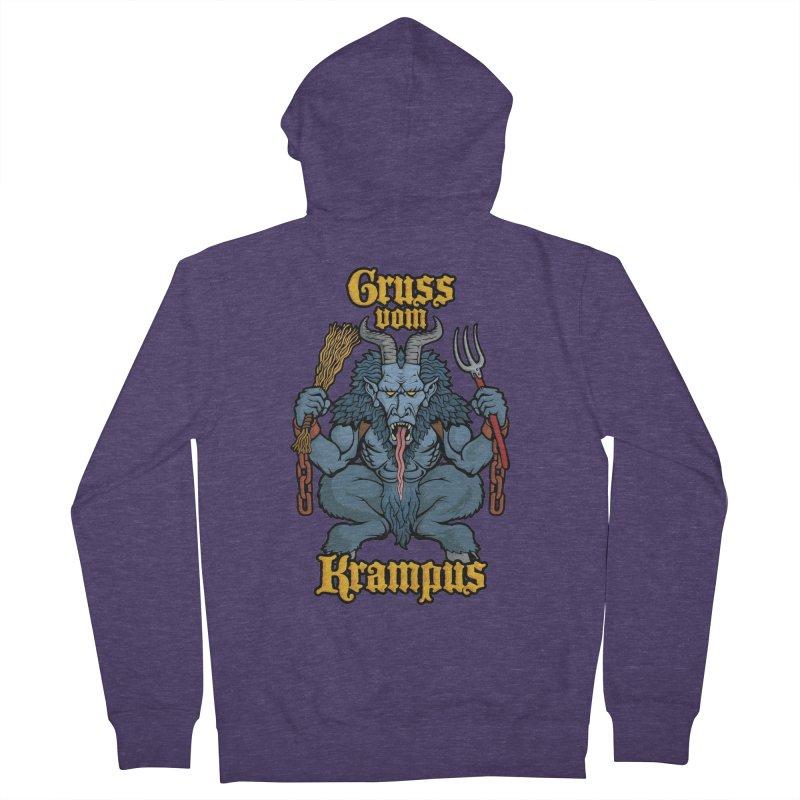 Gruss vom Krampus Men's Zip-Up Hoody by Octophant's Artist Shop