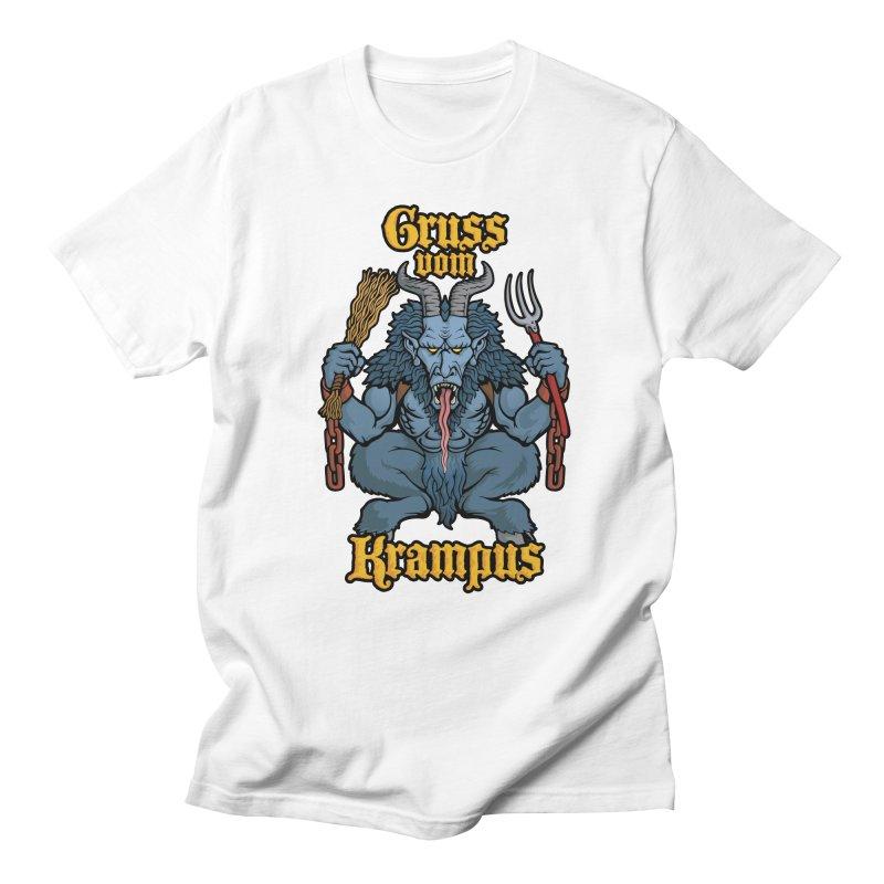 Gruss vom Krampus Men's T-shirt by Octophant's Artist Shop