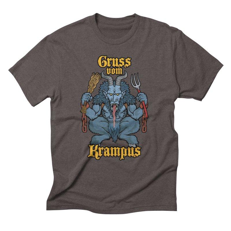 Gruss vom Krampus Men's Triblend T-Shirt by Octophant's Artist Shop