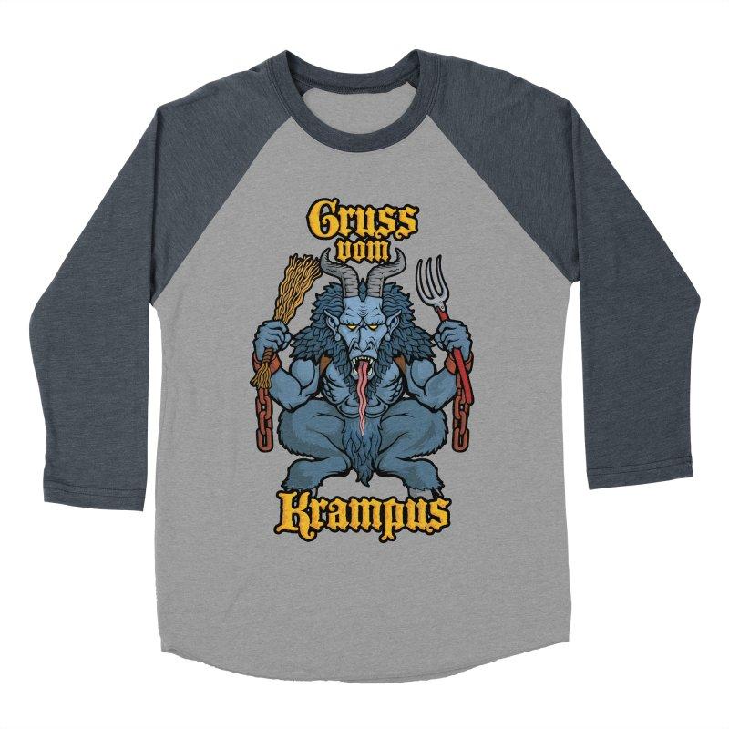 Gruss vom Krampus Women's Baseball Triblend T-Shirt by Octophant's Artist Shop