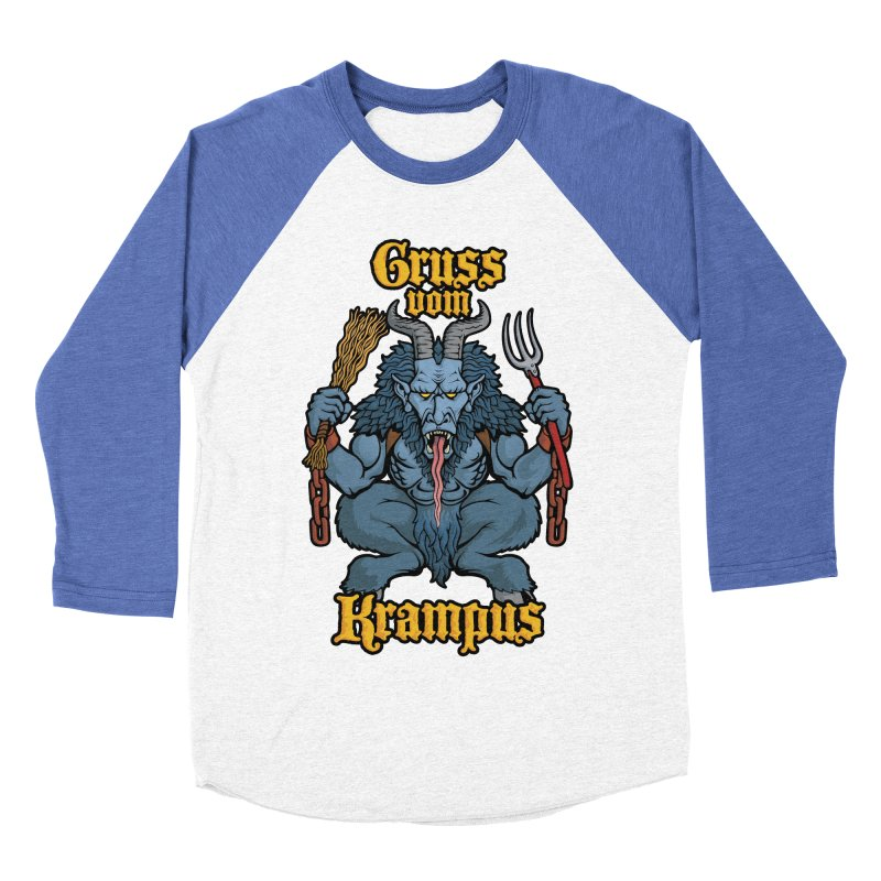 Gruss vom Krampus Men's Baseball Triblend T-Shirt by Octophant's Artist Shop