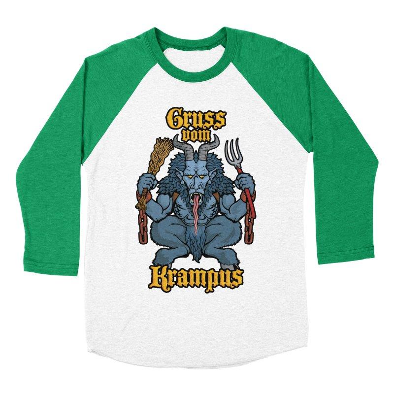 Gruss vom Krampus Men's Baseball Triblend T-Shirt by Octophant's Artist Shop