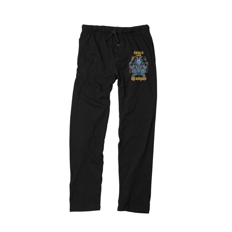 Gruss vom Krampus Men's Lounge Pants by Octophant's Artist Shop