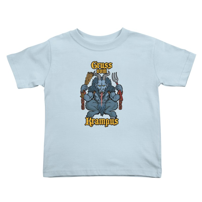 Gruss vom Krampus Kids Toddler T-Shirt by Octophant's Artist Shop