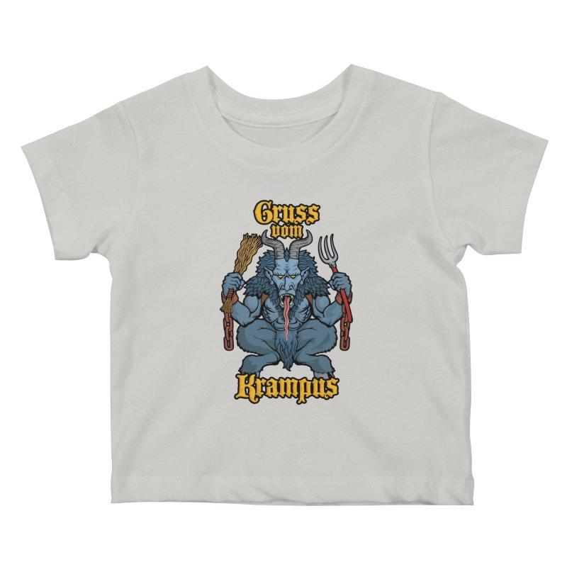 Gruss vom Krampus Kids Baby T-Shirt by Octophant's Artist Shop
