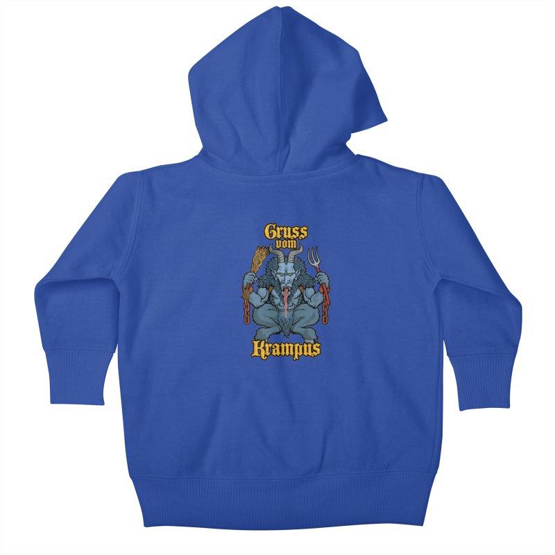 Gruss vom Krampus Kids Baby Zip-Up Hoody by Octophant's Artist Shop