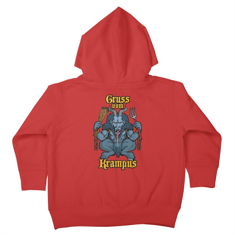 Gruss vom Krampus Kids Toddler Zip-Up Hoody by Octophant's Artist Shop