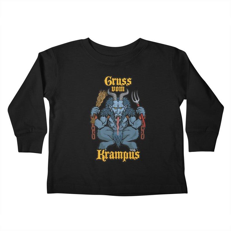 Gruss vom Krampus Kids Toddler Longsleeve T-Shirt by Octophant's Artist Shop