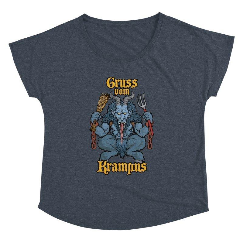 Gruss vom Krampus Women's Dolman by Octophant's Artist Shop