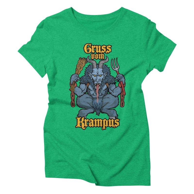 Gruss vom Krampus Women's Triblend T-shirt by Octophant's Artist Shop