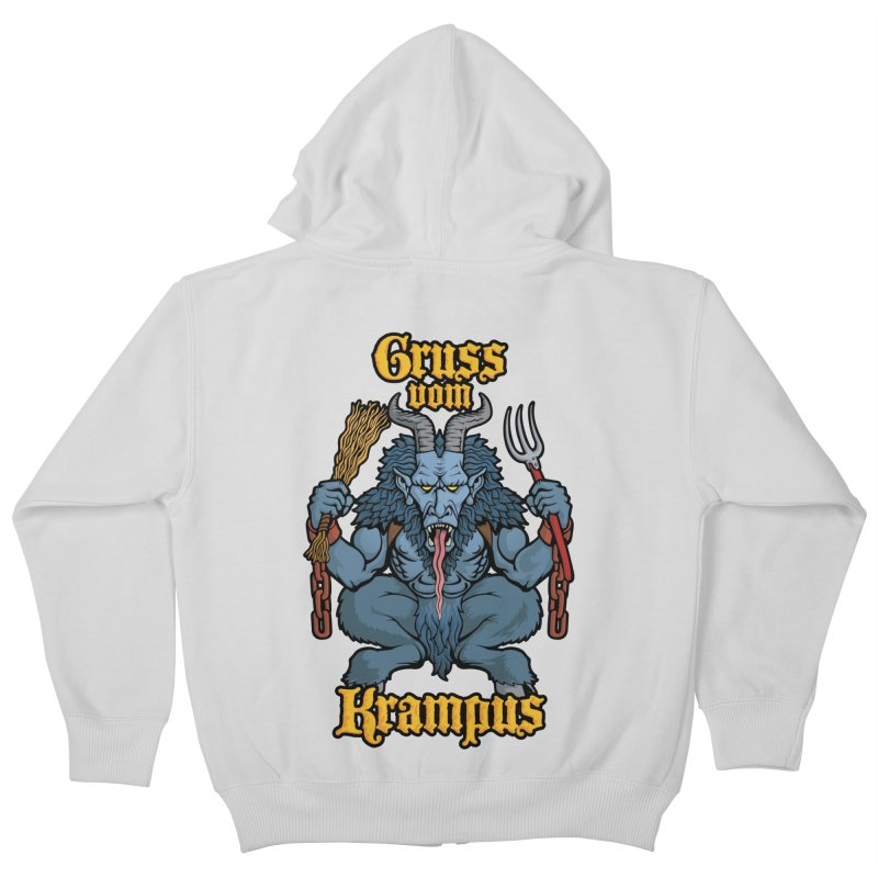 Gruss vom Krampus Kids Zip-Up Hoody by Octophant's Artist Shop