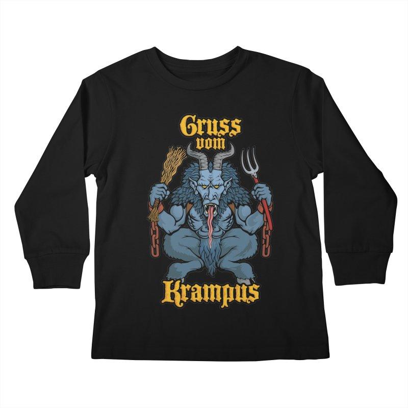 Gruss vom Krampus Kids Longsleeve T-Shirt by Octophant's Artist Shop