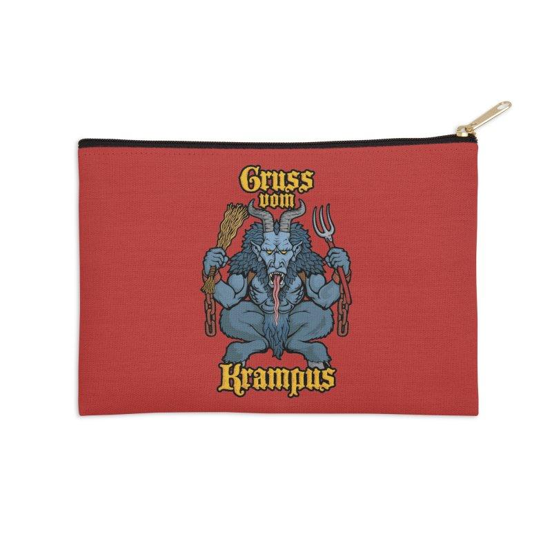 Gruss vom Krampus Accessories Zip Pouch by Octophant's Artist Shop