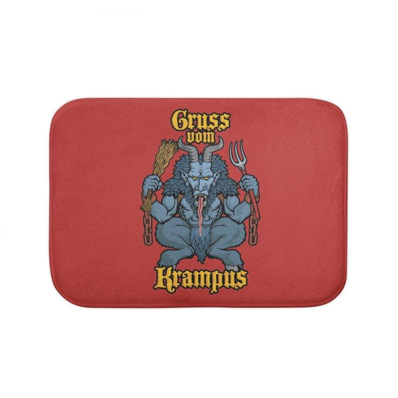 Gruss vom Krampus Home Bath Mat by Octophant's Artist Shop