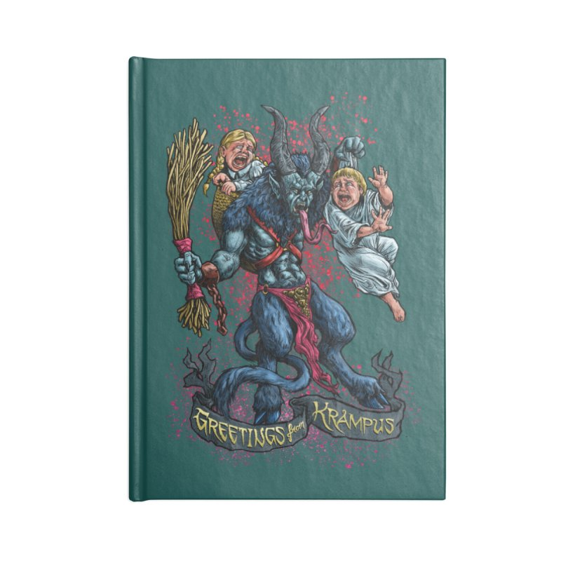 Greetings from Krampus (2019) Accessories Notebook by Octophant's Artist Shop