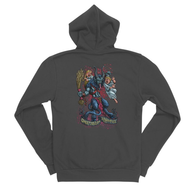 Greetings from Krampus (2019) Men's Sponge Fleece Zip-Up Hoody by Octophant's Artist Shop