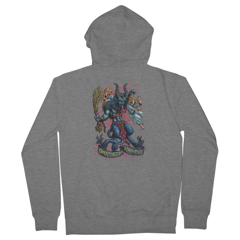 Greetings from Krampus (2019) Women's French Terry Zip-Up Hoody by Octophant's Artist Shop