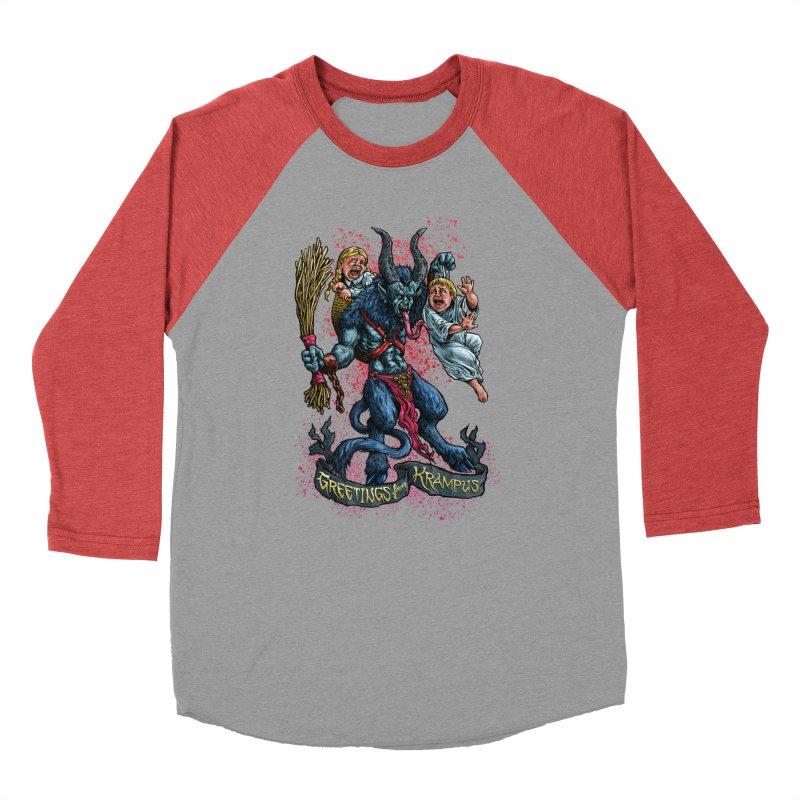 Greetings from Krampus (2019) Women's Baseball Triblend Longsleeve T-Shirt by Octophant's Artist Shop