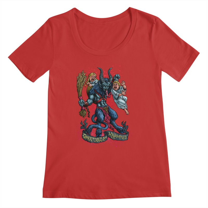 Greetings from Krampus (2019) Women's Regular Scoop Neck by Octophant's Artist Shop