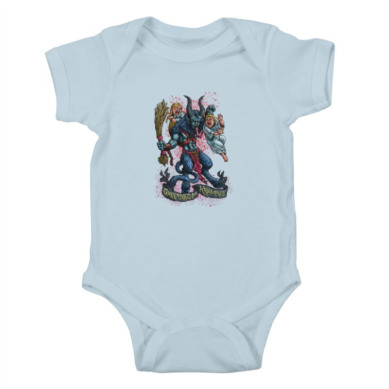 Greetings from Krampus (2019) Kids Baby Bodysuit by Octophant's Artist Shop