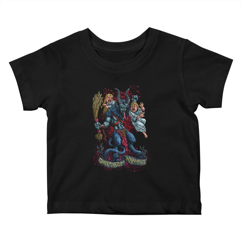 Greetings from Krampus (2019) Kids Baby T-Shirt by Octophant's Artist Shop