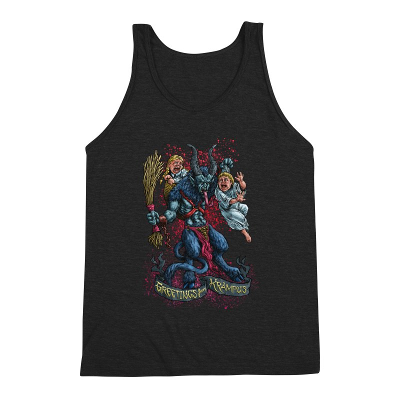Greetings from Krampus (2019) Men's Triblend Tank by Octophant's Artist Shop