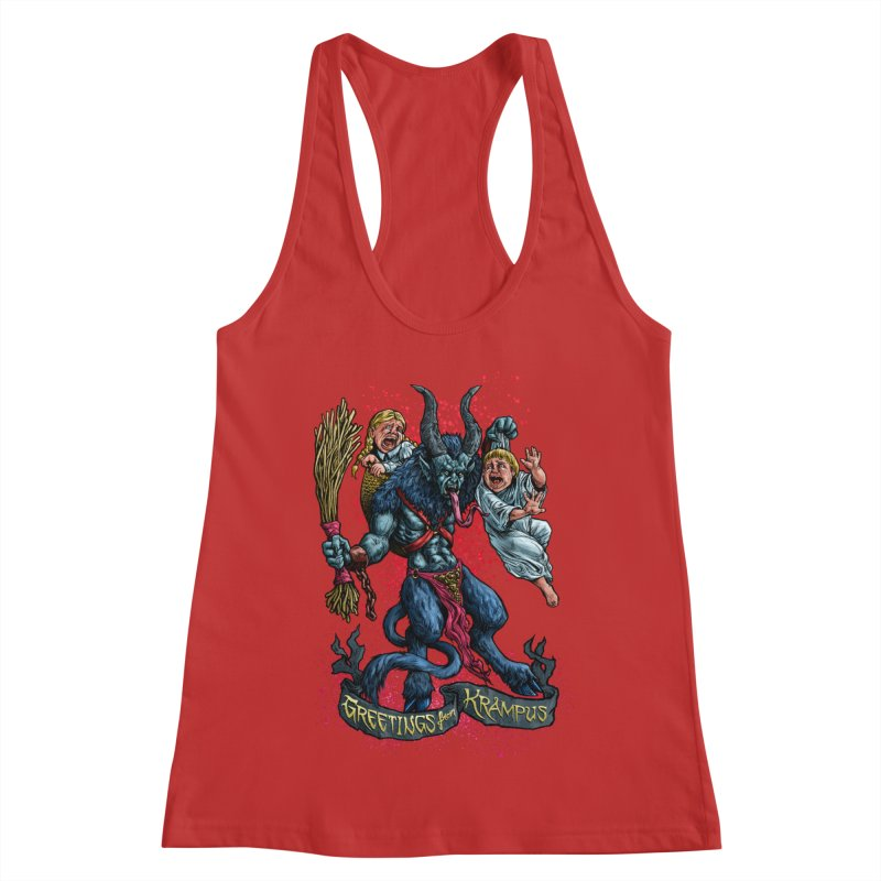 Greetings from Krampus (2019) Women's Racerback Tank by Octophant's Artist Shop