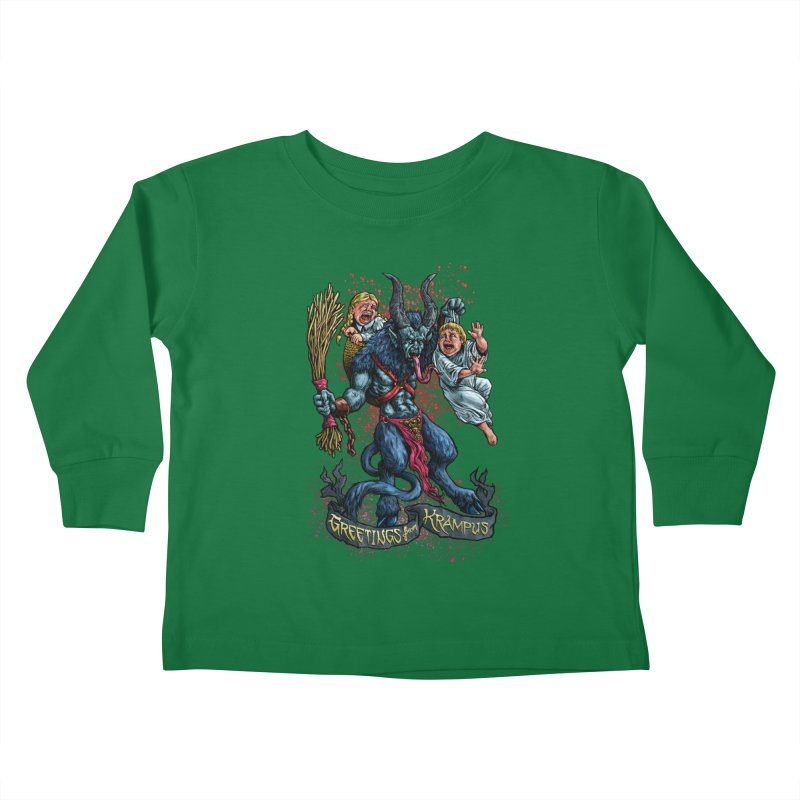 Greetings from Krampus (2019) Kids Toddler Longsleeve T-Shirt by Octophant's Artist Shop