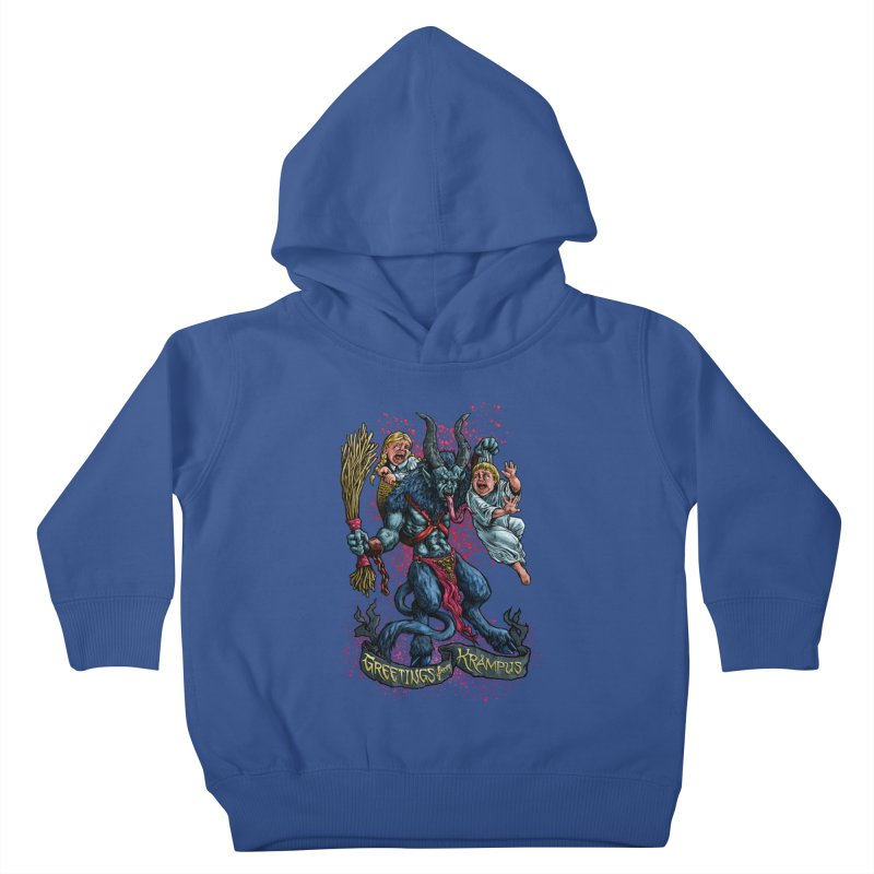 Greetings from Krampus (2019) Kids Toddler Pullover Hoody by Octophant's Artist Shop