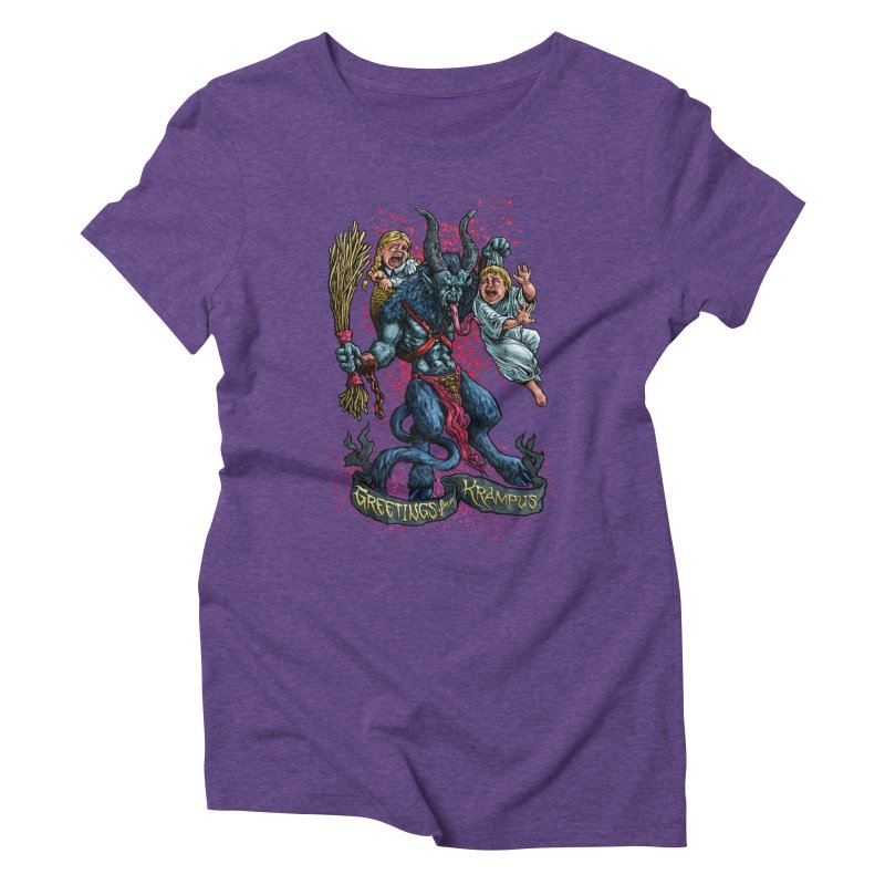 Greetings from Krampus (2019) Women's Triblend T-Shirt by Octophant's Artist Shop