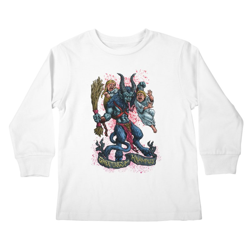 Greetings from Krampus (2019) Kids Longsleeve T-Shirt by Octophant's Artist Shop