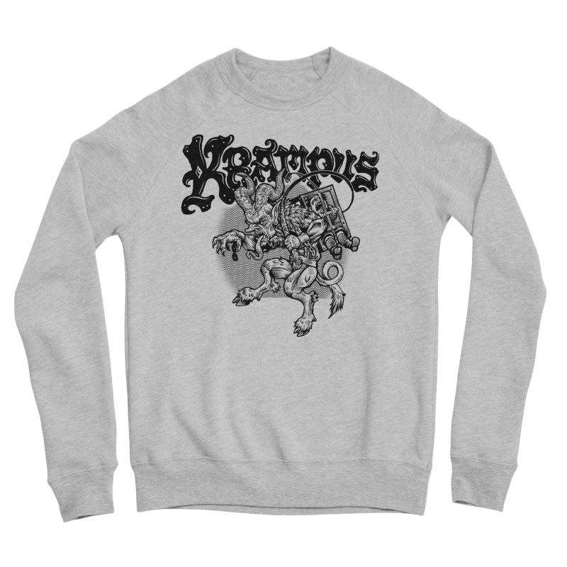 Krampus (Black Print) Men's Sponge Fleece Sweatshirt by Octophant's Artist Shop