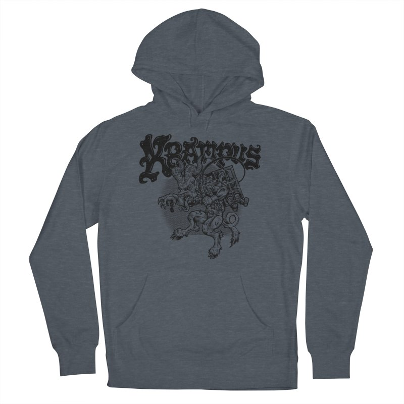 Krampus (Black Print) Women's French Terry Pullover Hoody by Octophant's Artist Shop