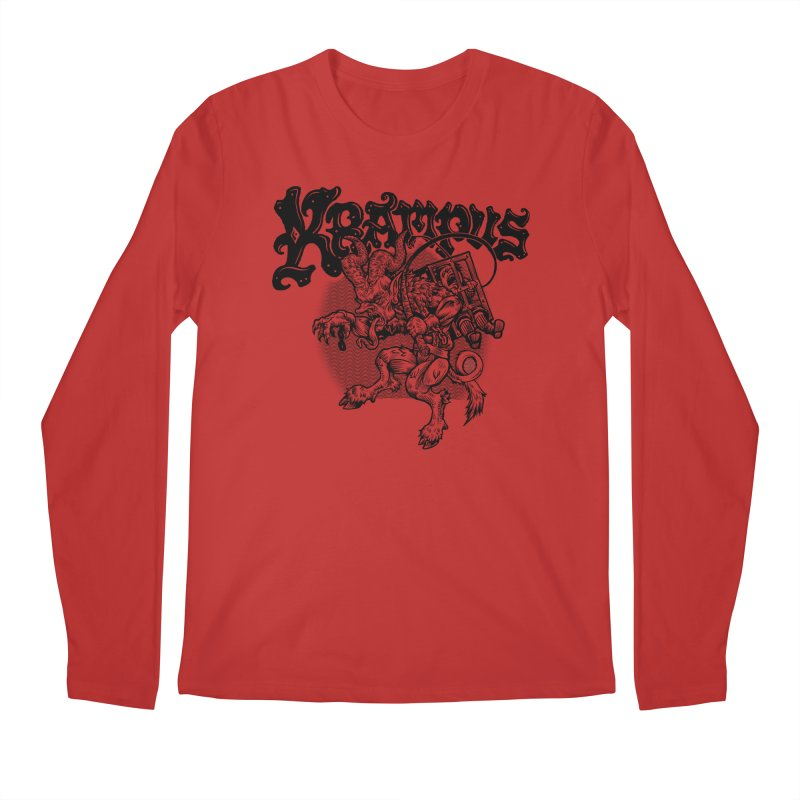 Krampus (Black Print) Men's Regular Longsleeve T-Shirt by Octophant's Artist Shop