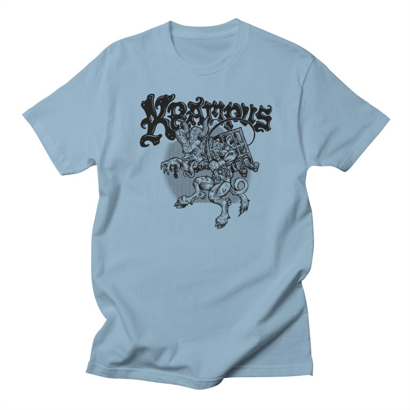 Krampus (Black Print) Men's Regular T-Shirt by Octophant's Artist Shop