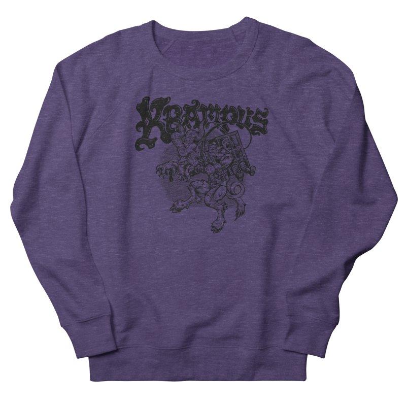 Krampus (Black Print) Women's French Terry Sweatshirt by Octophant's Artist Shop