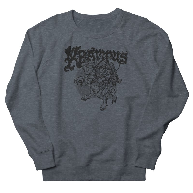 Krampus (Black Print) Men's French Terry Sweatshirt by Octophant's Artist Shop