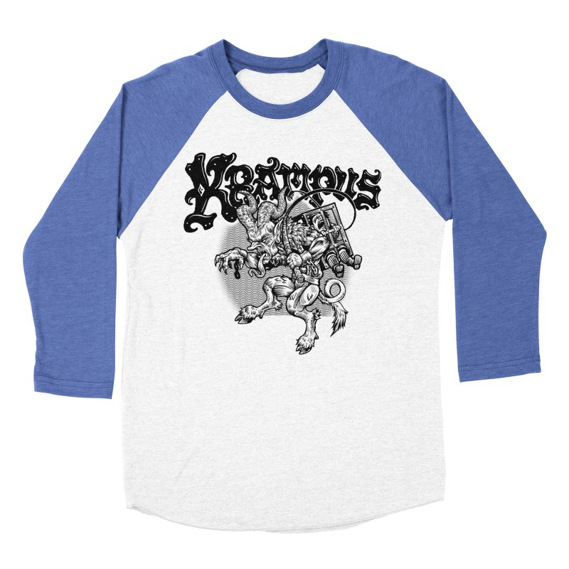 Krampus (Black Print) Women's Baseball Triblend Longsleeve T-Shirt by Octophant's Artist Shop