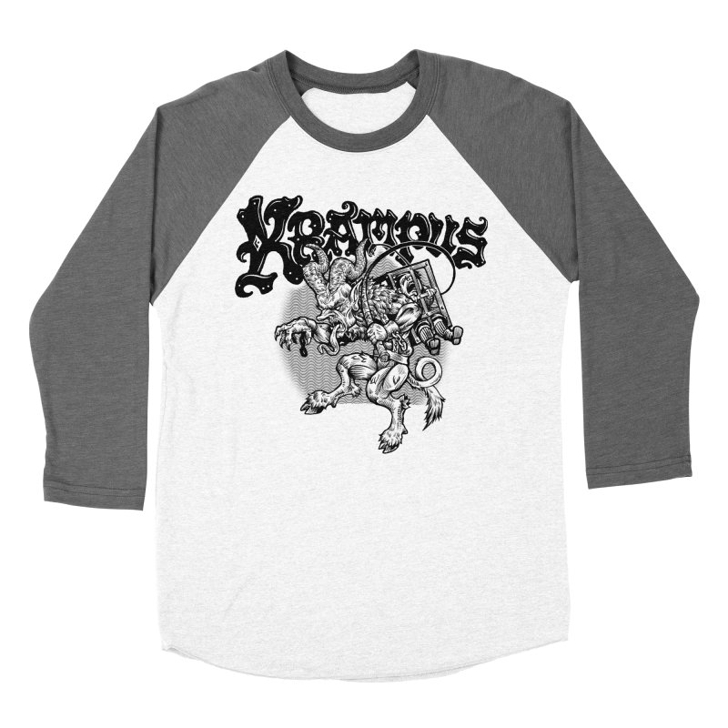 Krampus (Black Print) Men's Baseball Triblend Longsleeve T-Shirt by Octophant's Artist Shop
