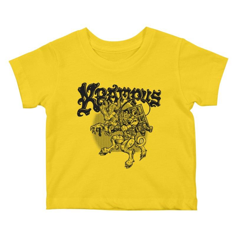 Krampus (Black Print) Kids Baby T-Shirt by Octophant's Artist Shop
