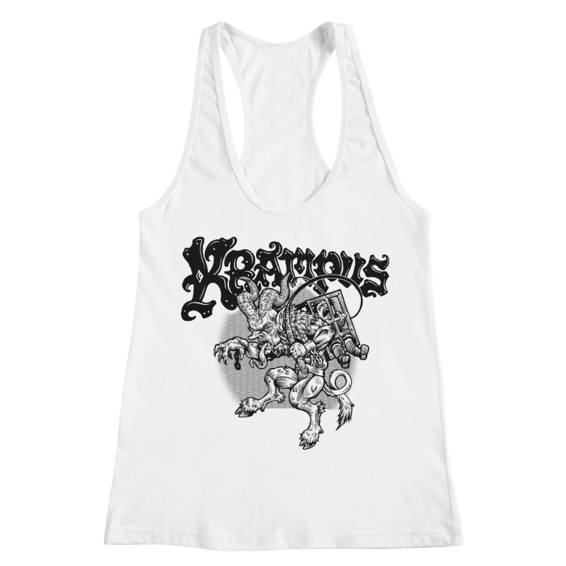 Krampus (Black Print) Women's Racerback Tank by Octophant's Artist Shop