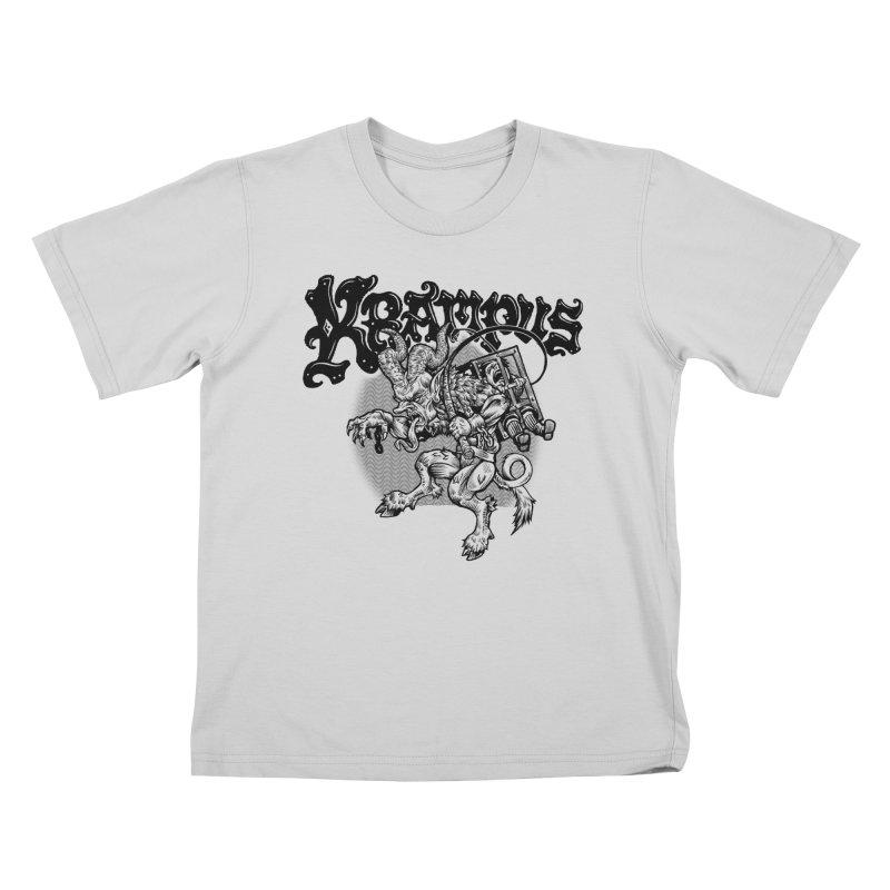 Krampus (Black Print) Kids T-Shirt by Octophant's Artist Shop