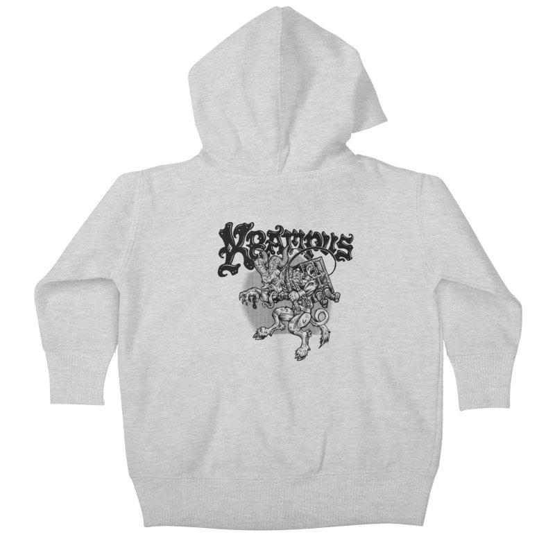 Krampus (Black Print) Kids Baby Zip-Up Hoody by Octophant's Artist Shop